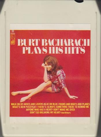 Burt Bacharach: Plays His Hits 8 track tape