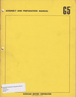 Kawasaki Assembly Preparation Manual 1972