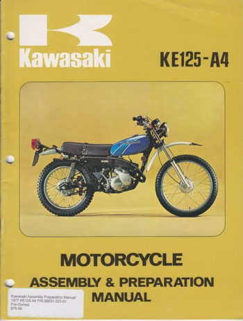 Kawasaki Assembly Preparation Manual
