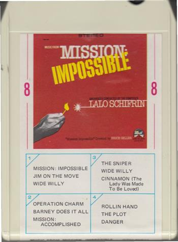 Music From Mission Mpossible Lalo Schifrin 8 track tape