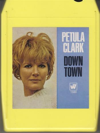 Petula Clark Down Town  8 track tape 1590