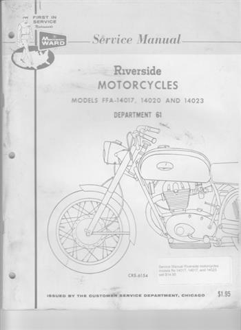 Service Manual Riverside motorcycles