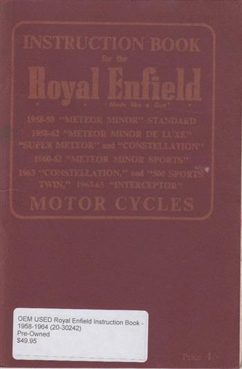 OEM Royal Enfield Instruction Book