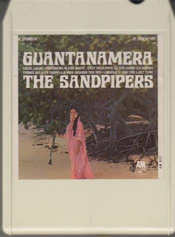 THE SANDPIPERS: Guantanamera 8 track tape